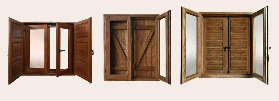 ventanas madera r stica